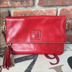 Dooney & Bourke Red Florentine Zip Crossbody